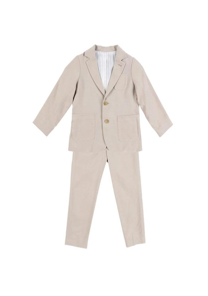 Tencel Single Breasted Suit_Baby_Beige