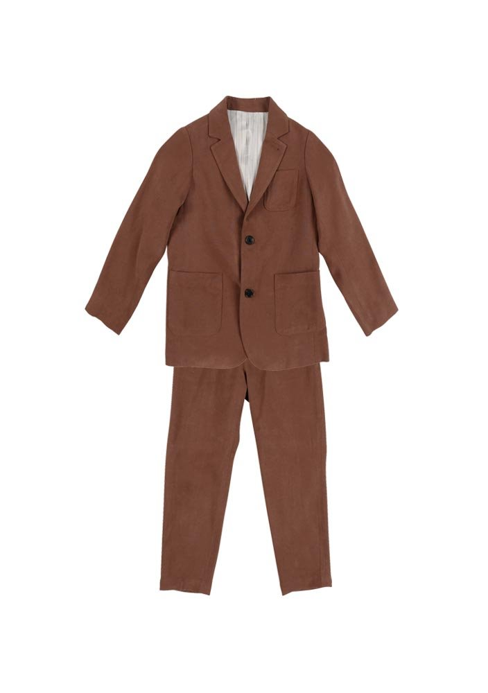 Tencel Single Breasted Suit_Baby_Brown_#2