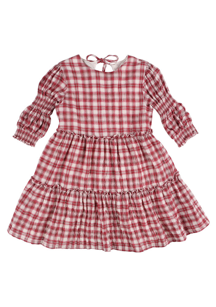 Smocking Check Dress_Baby