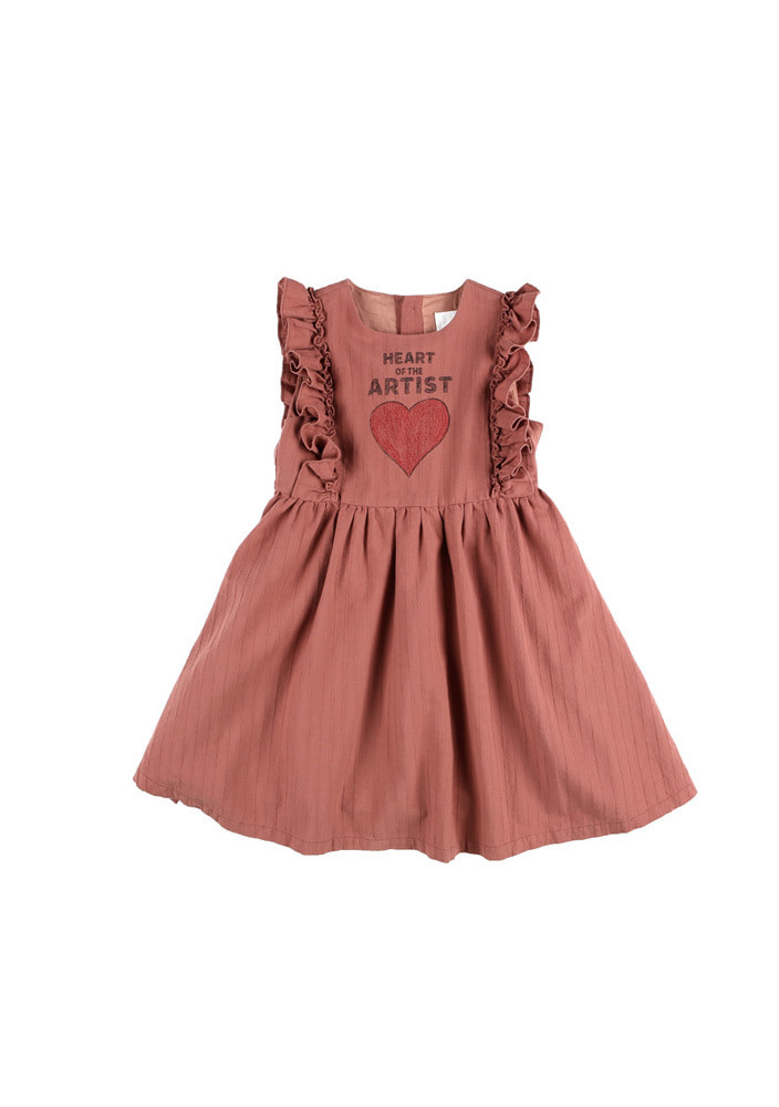 Artist Heart Dress_Baby_Brick