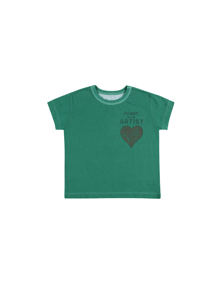 Artist Heart Short Sleeve T-shirt_Baby
