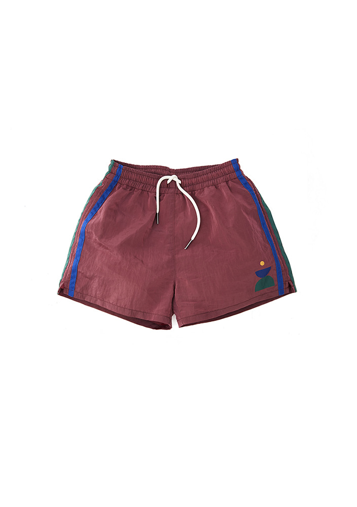 SWIM TRUNK_Burgundy #3