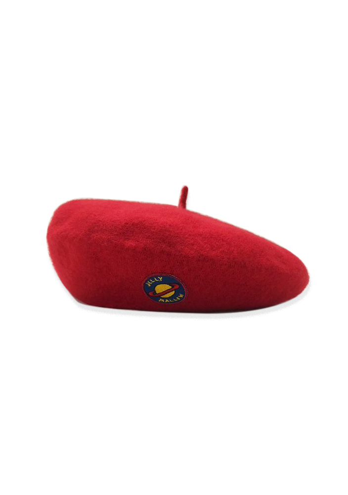 PATCH WOOL BERET