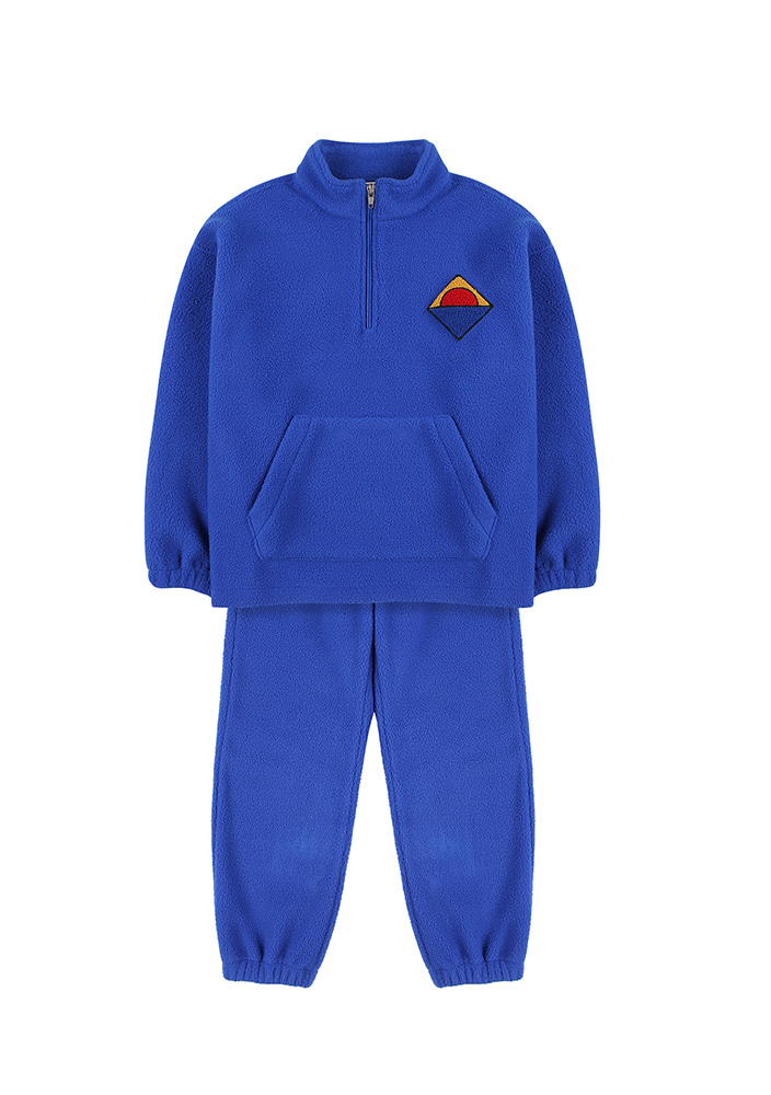 HALF-ZIP SWEATSHIRT & LOUNGE PANTS_Blue_Baby