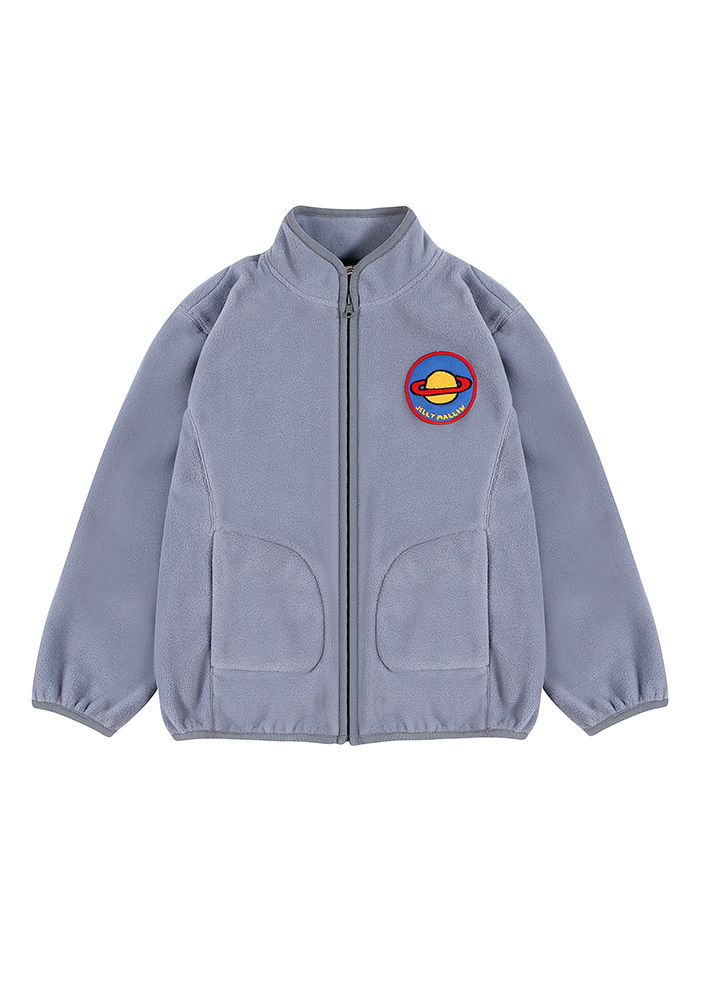 SATURN PATCH FLEECE_Light Grey