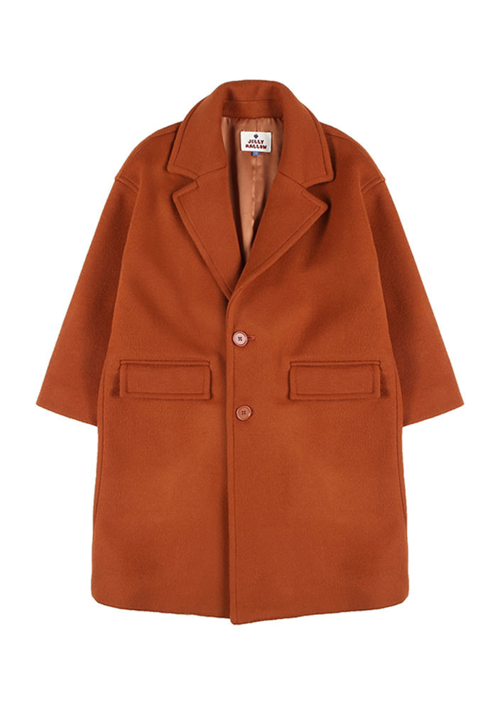 OVERSIZED SINGLE COAT_Persimmon