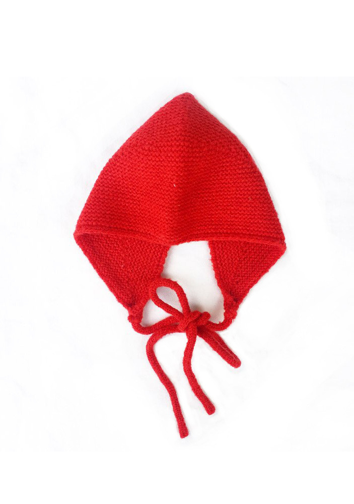 KNITTED HAT_Red_#2