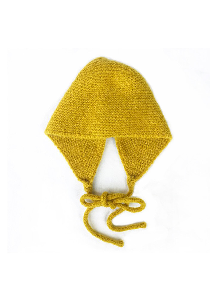 KNITTED HAT_Yellow_#2