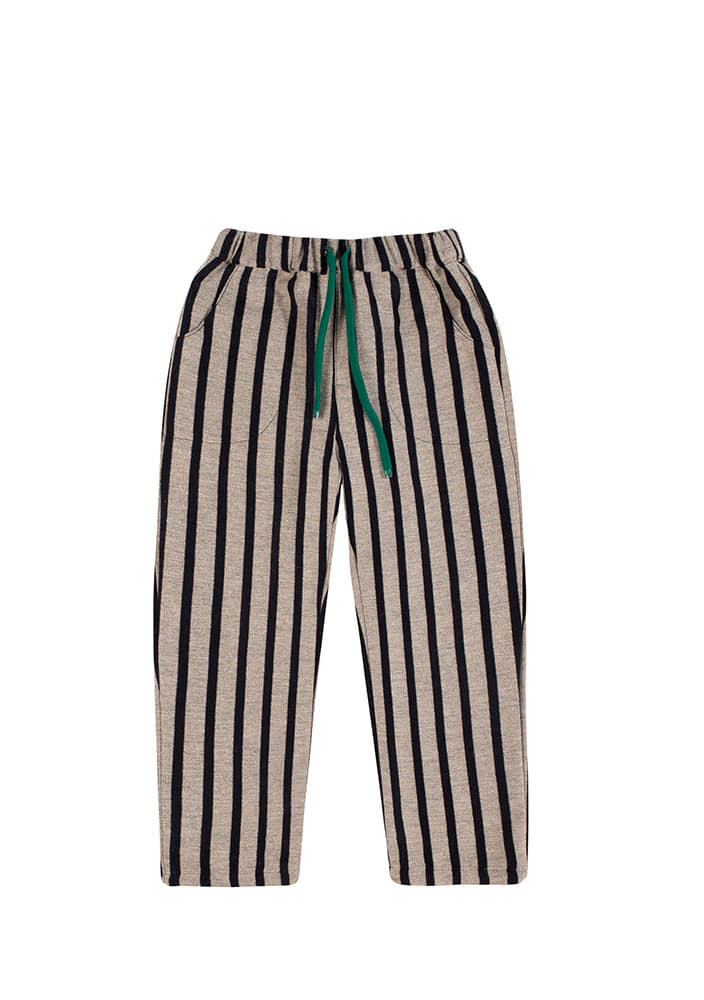 WOOL STRIPED PANTS_Beige
