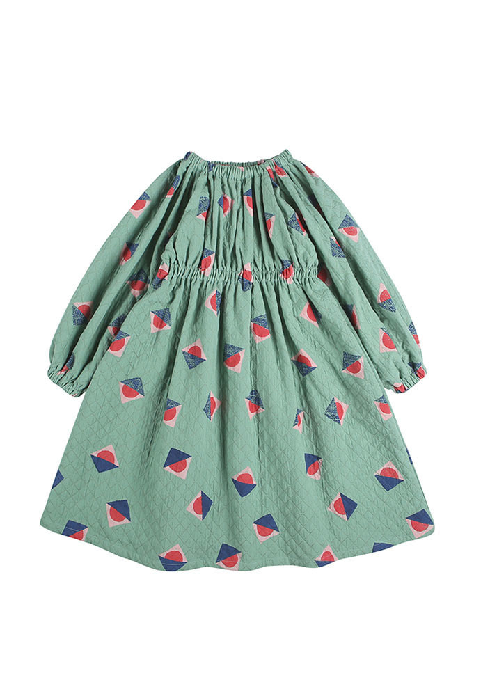 SUNSET RUCHED DRESS_Baby_Green