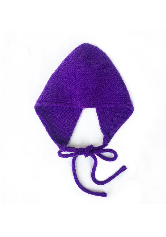 KNITTED HAT_Purple_#2