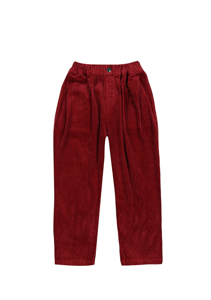 BALLOON CORDUROY PANTS_Burgundy