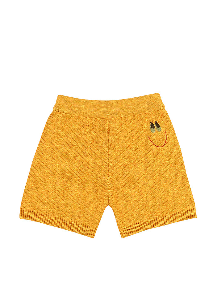 SMILE GIRL COTTON KNITTED SHORTS