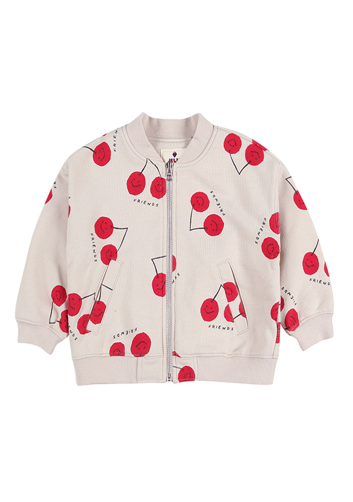 CHERRY FRIENDS ZIP-UP JACKET_Kids