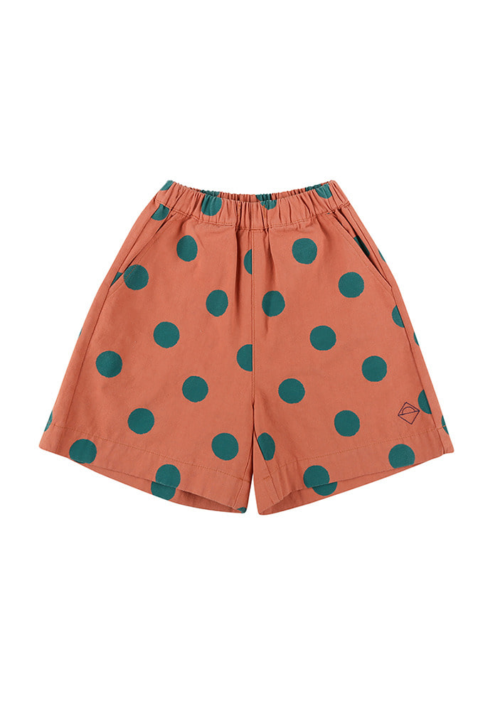 GREEN DOTTED COTTON SHORTS_#2
