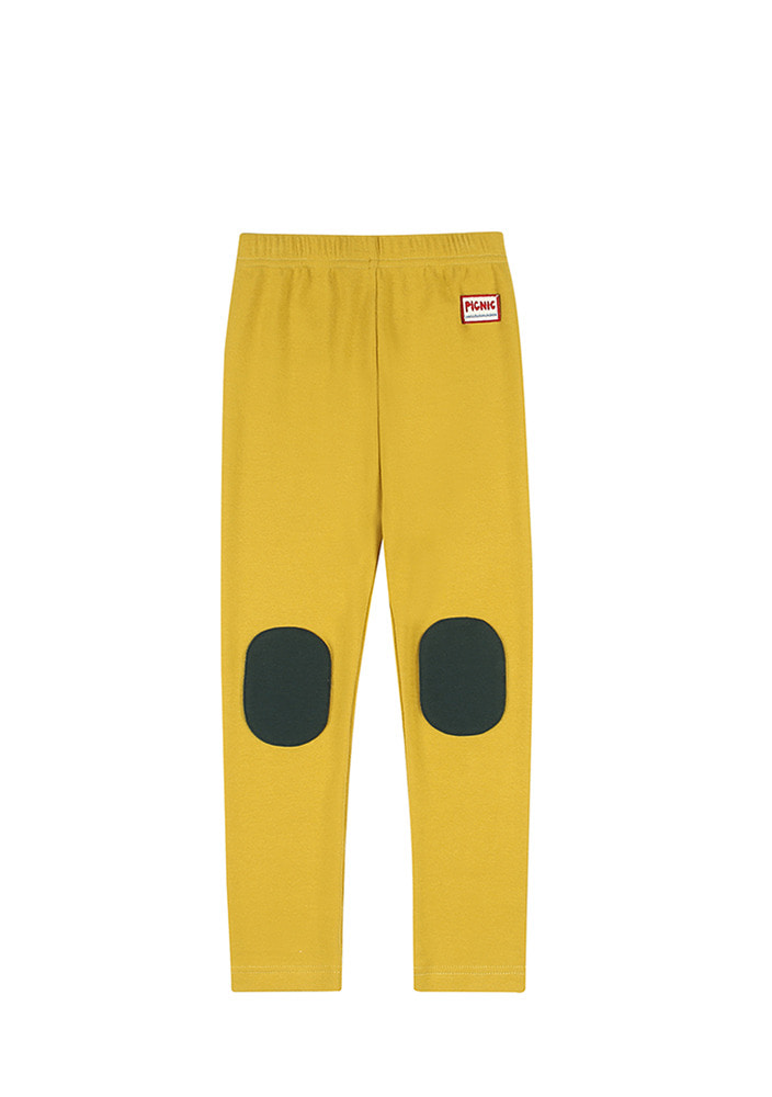 PICNIC PATCH LEGGINGS_Mustard_Kids