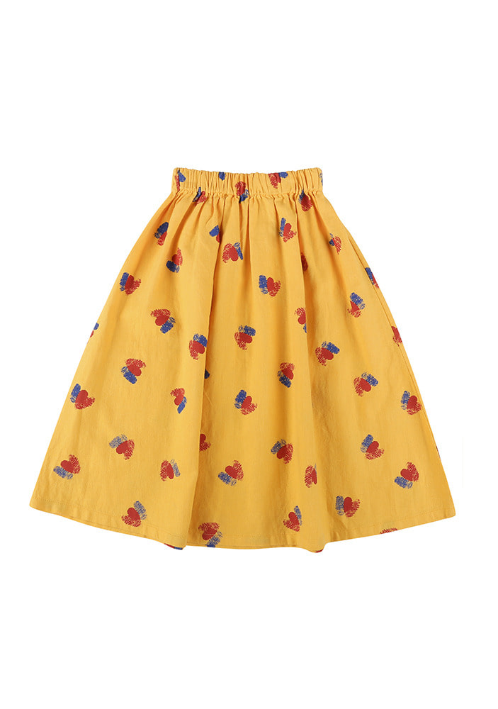 DOUBLE HEARTS MIDI SKIRT