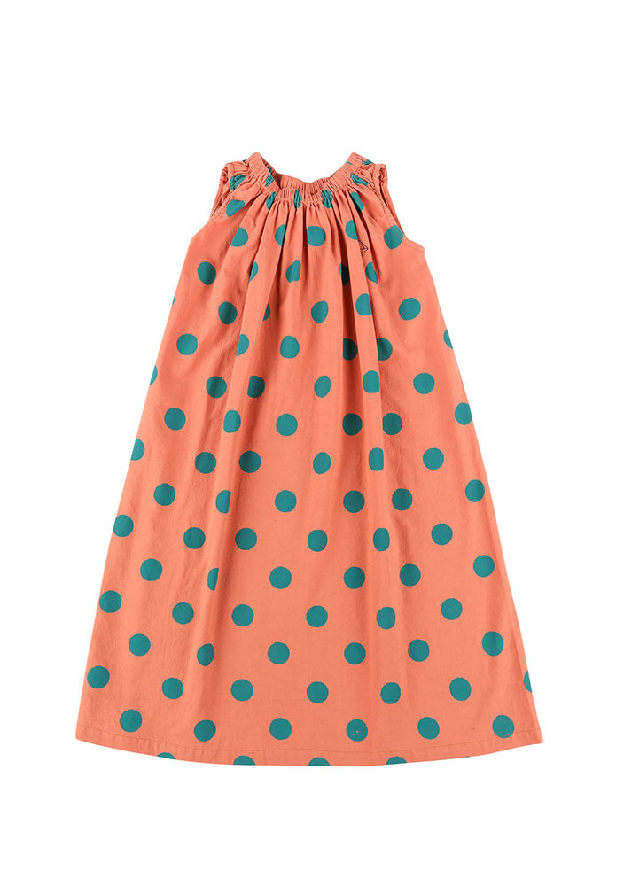 GREEN DOTTED DRESS_Kids