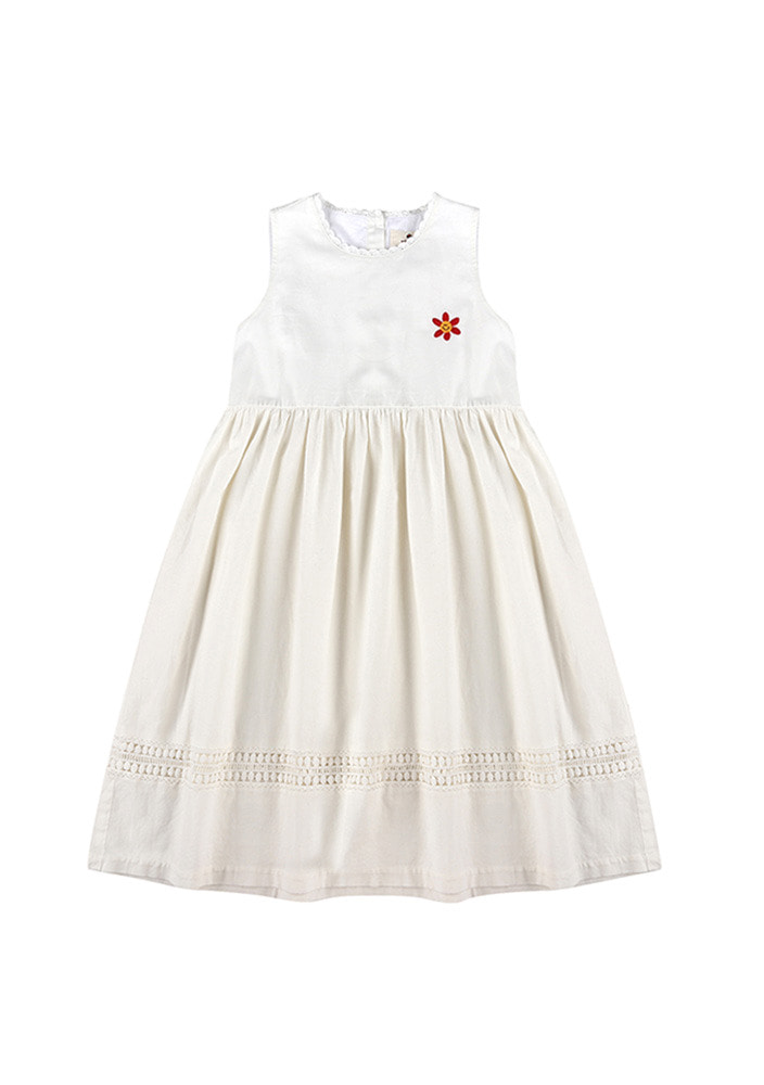 SMILE FLOWER DRESS_Kids_Off White