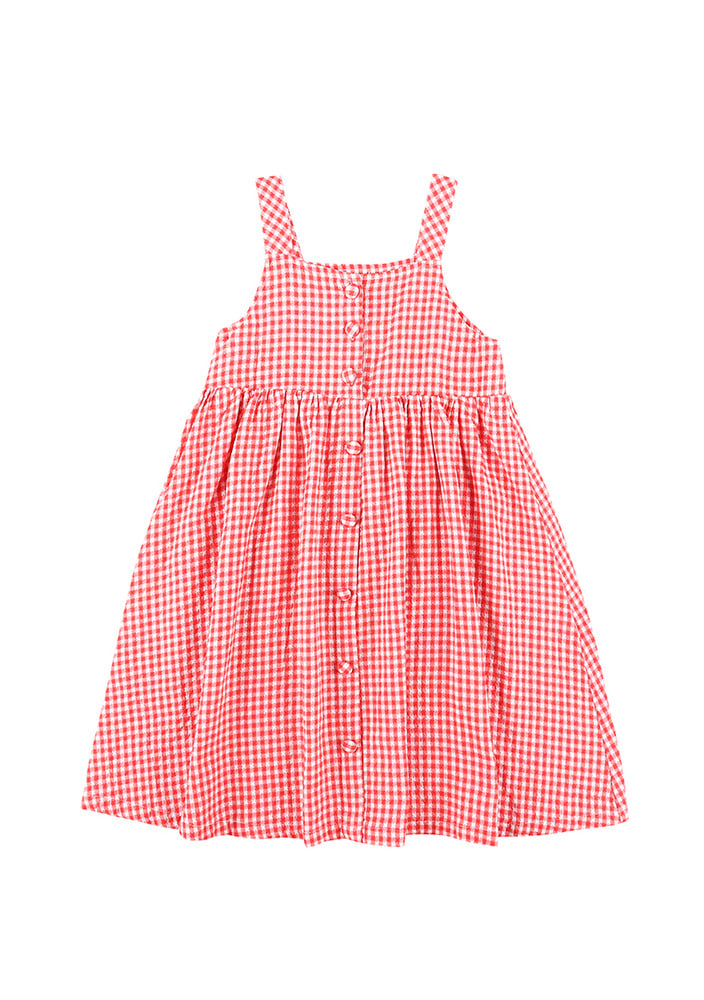 GINGHAM CHECKED DRESS