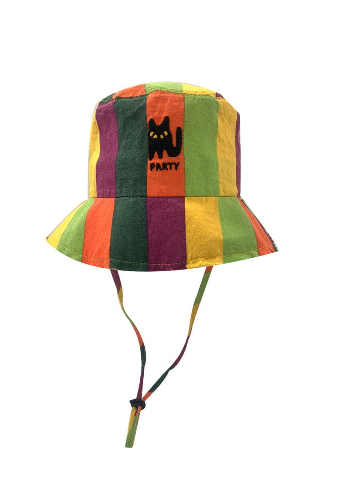 RAINBOW STRIPE BUCKET HAT #3