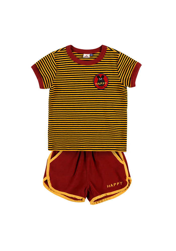 STRIPED SUMMER SET_Yellow&Brick_Baby