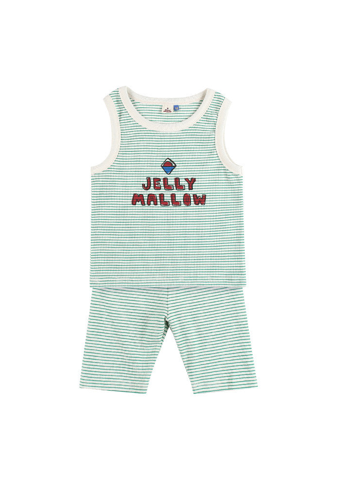JELLYMALLOW STRIPE SET_Green_Baby