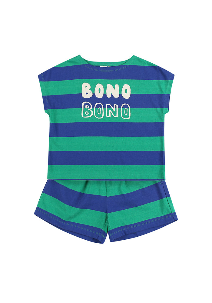 BONO STRIPE COTTON SET_Green&Blue_Baby