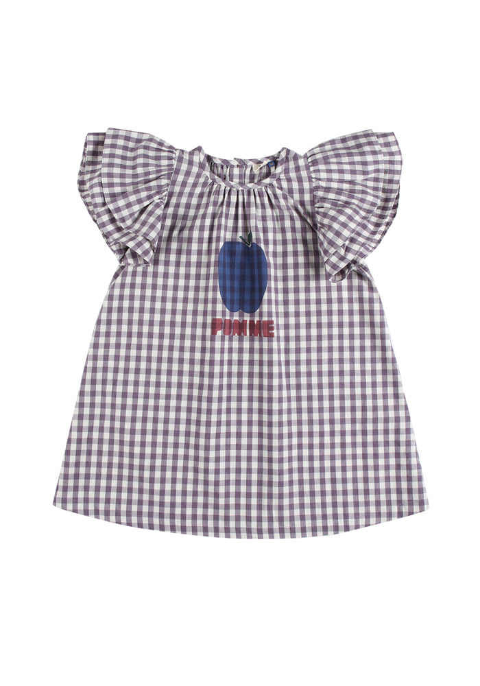 POMME FRILL DRESS_Purple_Kids