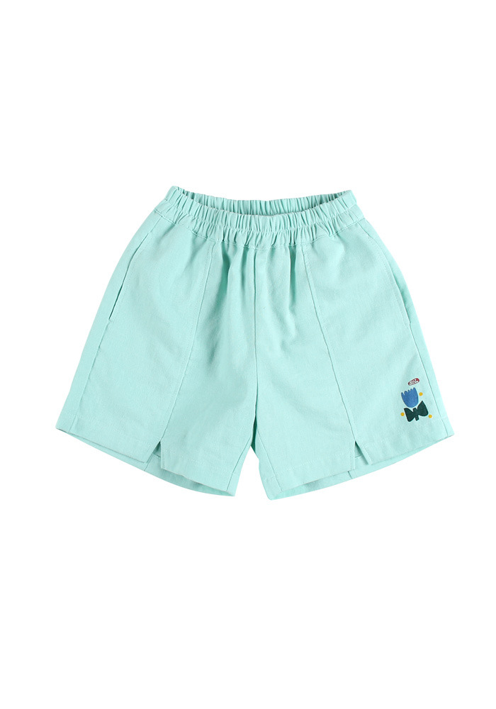 TULIP COTTON SHORTS_Mint_Kids#2