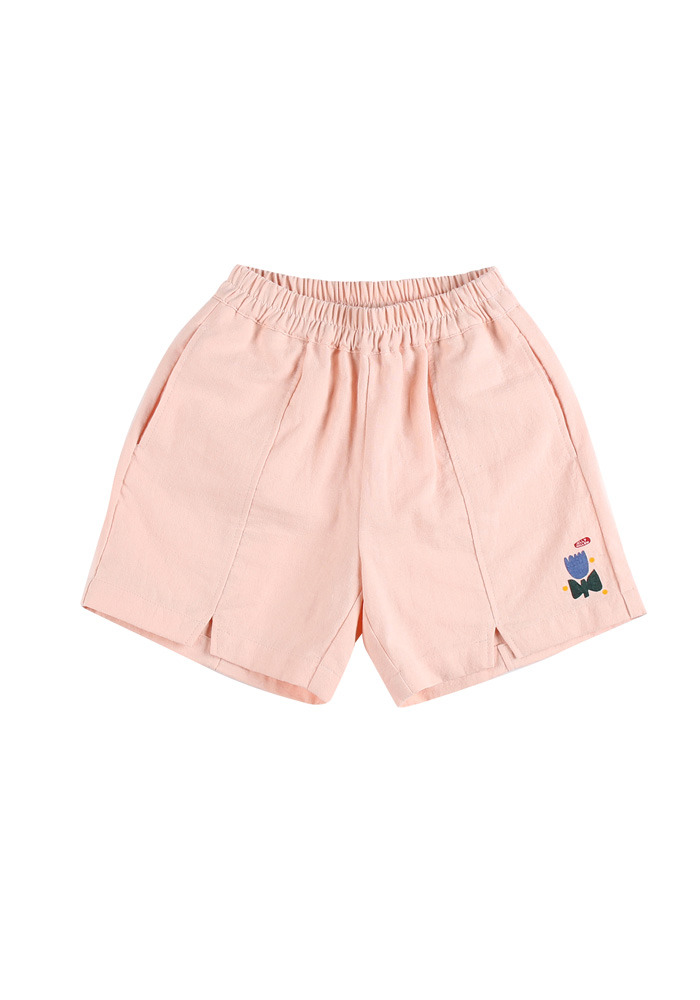 TULIP COTTON SHORTS_Pink_Kids#2