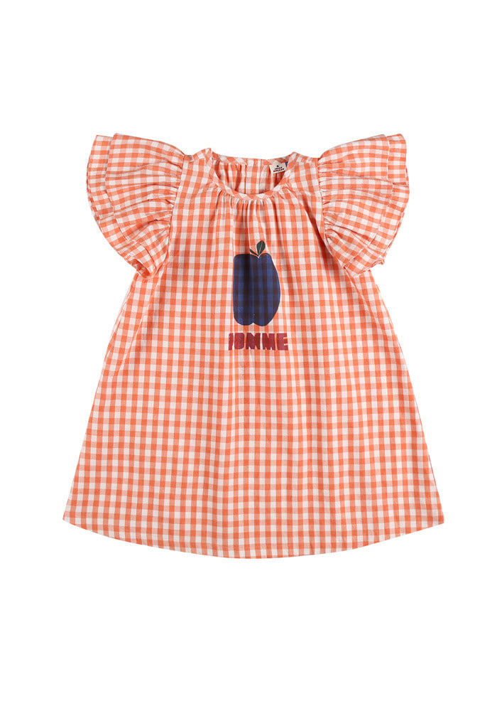 POMME FRILL DRESS_Orange_Kids