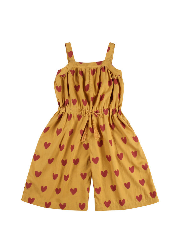 HEART WIDE OVERALL_Mustard_Kids
