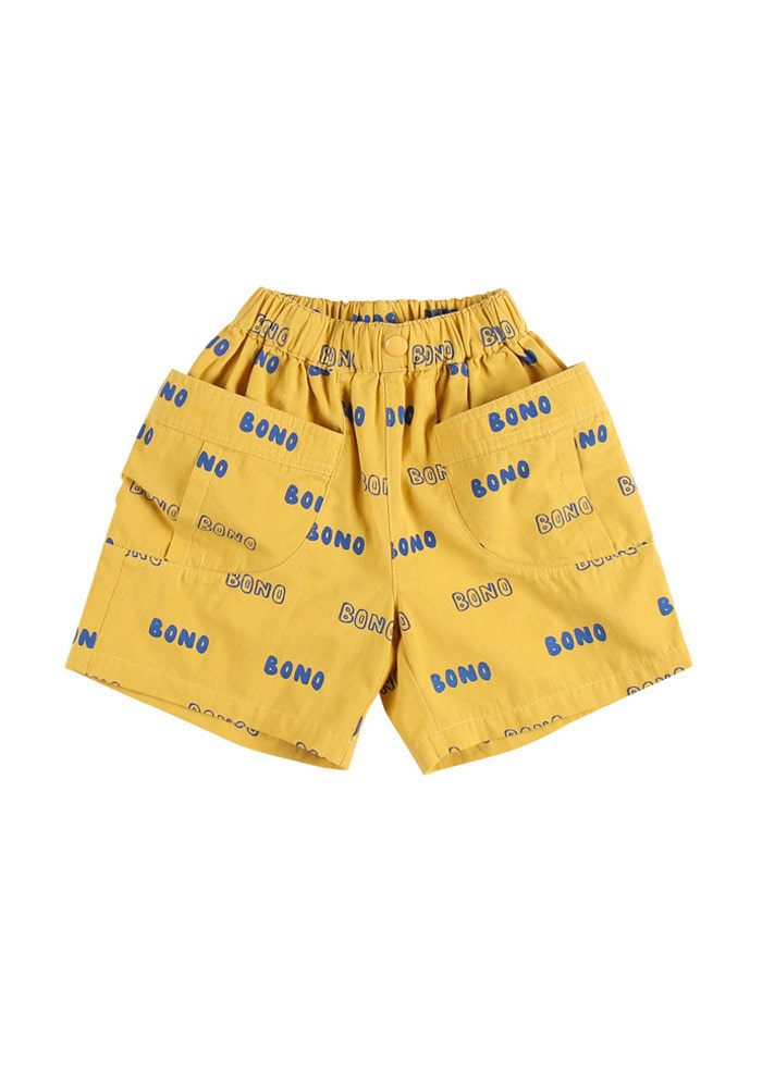 BONO CARGO SHORTS_Yellow_Kids#2